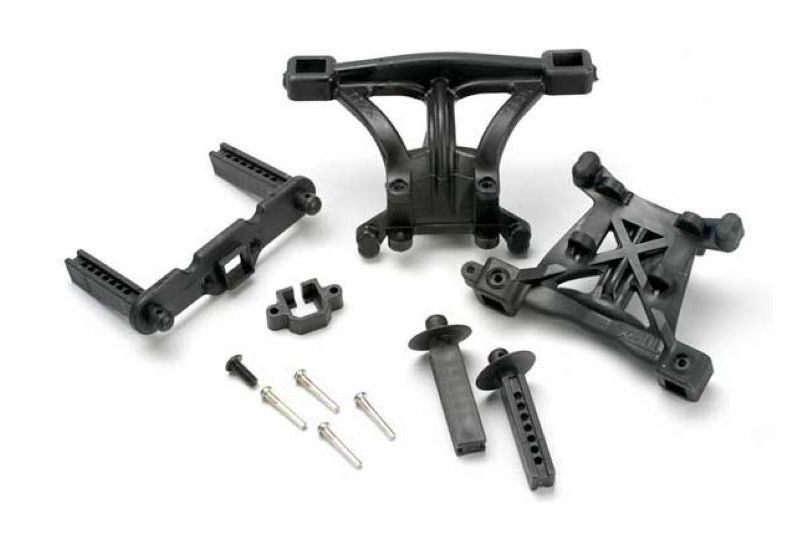 Фото - Запчасти для радиоуправляемых моделей Traxxas TRAXXAS Body mounts, front & rear: body mount posts, front & rear: 2.5x18mm screw pins (4): 4x10mm B аксессуары для радиоуправляемых моделей traxxas body mercedes benz® g 500® 4x4² clear requires painting decals window masks includes rear body post grille side mirrors door handles