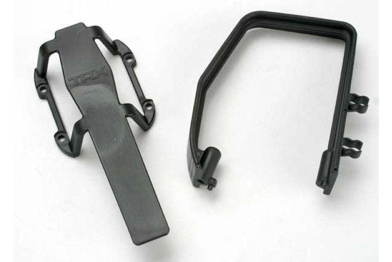 Запчасти для радиоуправляемых моделей Traxxas TRAXXAS Roll hoop, plastic: transmission skid guard, plastic