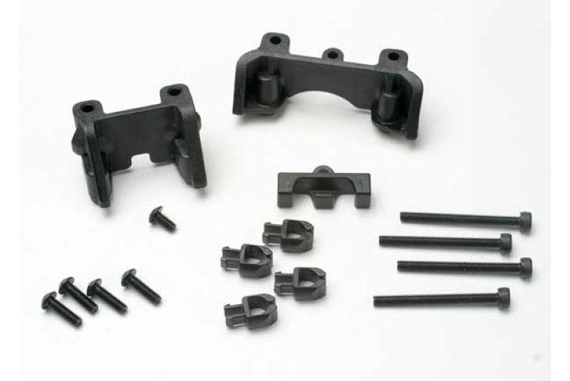 Запчасти для радиоуправляемых моделей Traxxas TRAXXAS Shock mounts (front & rear): wire clip (1): chassis clips (4): 3x32mm CS 3x6mm BCS (1)