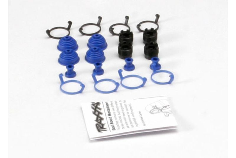 Запчасти для радиоуправляемых моделей Traxxas TRAXXAS Pivot ball caps (4): dust boots, rubber (4): dust plugs, rubber (4): dust boot retainers, black (4),