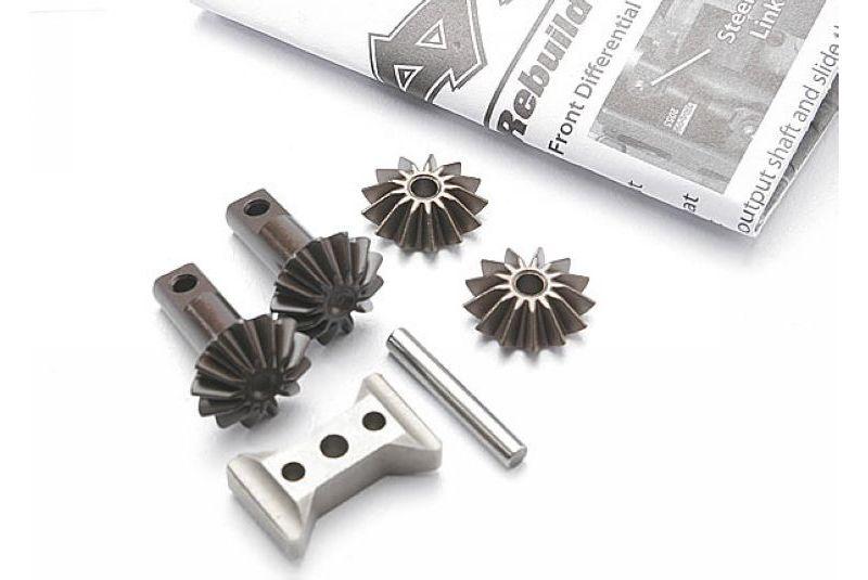 Запчасти для радиоуправляемых моделей Traxxas TRAXXAS Gear set, differential (output gears (2): spider gears (2): spider gear shaft: diff carrier support)