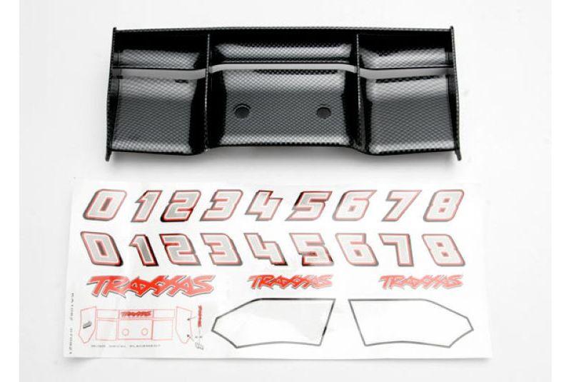 Запчасти для радиоуправляемых моделей Traxxas TRAXXAS Wing, Revo (Exo-Carbon finish): decal sheet