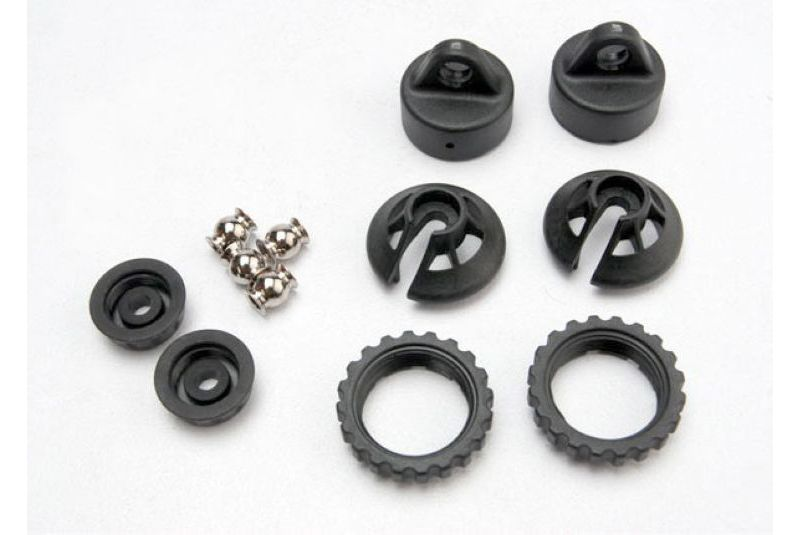 Запчасти для радиоуправляемых моделей Traxxas TRAXXAS Caps and spring retainers, GTR shock (upper cap (2): hollow balls bottom upper retaine