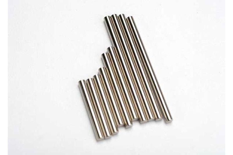 Запчасти для радиоуправляемых моделей Traxxas TRAXXAS Suspension pin set, complete (hardened steel, front & rear), 3x27mm (4), 3x35mm (2), 3x52mm (4)