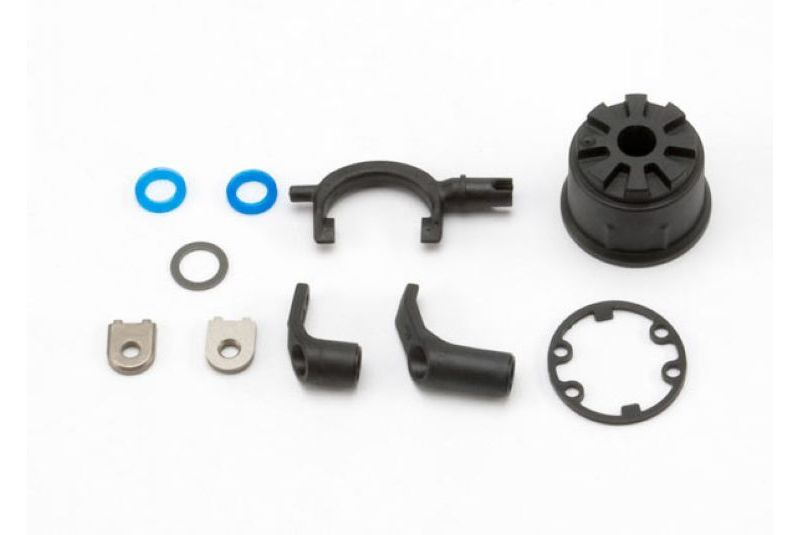 Запчасти для радиоуправляемых моделей Traxxas TRAXXAS Carrier, differential (heavy duty): fork: linkage arms (front & rear):x-ring gasket