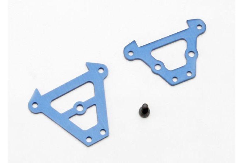 Запчасти для радиоуправляемых моделей Traxxas TRAXXAS Bulkhead tie bars, front & rear (blue-anodized aluminum): 2.5x6 CS (1)