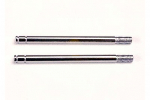 TRAXXAS запчасти Shock shafts, steel, chrome finish (long) (2)