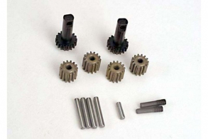 TRAXXAS запчасти Planet gears (4): planet shafts (4): sun gears (2):sun gear alignment shaft (1) all hardened steel