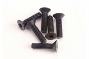 TRAXXAS запчасти Screws, 3x12mm countersunk machine (6) (hex drive)