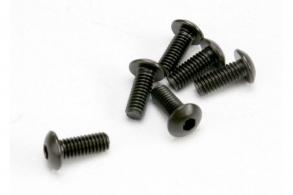 TRAXXAS запчасти Screws, 4x10mm button-head machine (hex drive) (6)