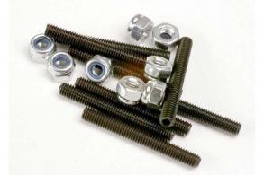 TRAXXAS запчасти Set (grub) screws, 3x25mm (8): 3mm nylon locknuts (8)