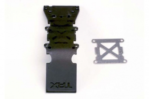 TRAXXAS запчасти Skidplate, front plastic (black): stainless steel plate