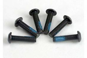 TRAXXAS запчасти Screws, 3x12mm button-head machine (6) (starter attachment screws with Threadlock)