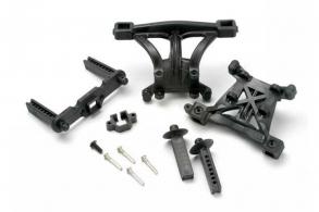 TRAXXAS запчасти Body mounts, front & rear: body mount posts, front & rear: 2.5x18mm screw pins (4): 4x10mm B