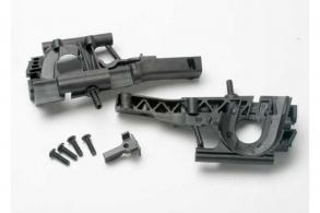 TRAXXAS запчасти Bulkhead, front (L&R halves): diff retainer: 4x14mm BCS (4)