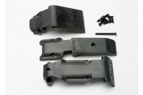 TRAXXAS запчасти Skid plate set, front (2 pieces, plastic): skid plate, rear (1 piece, plastic)