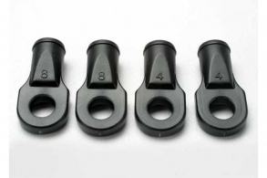 TRAXXAS запчасти Rod ends, Revo (large, for rear toe link only) (4)
