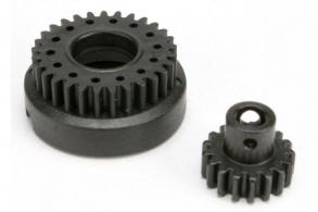TRAXXAS запчасти Gear set, two-speed (2nd speed gear, 29T: input gear, 17T steel)