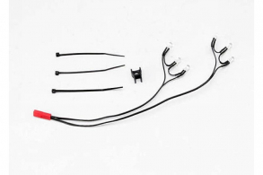 TRAXXAS запчасти LED lights, rear harness (6 red lights), Summit (1): wire clip (1)