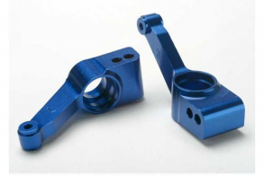 TRAXXAS запчасти Carriers, stub axle (blue-anodized 6061-T6 aluminum)(rear)(2)
