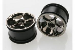 TRAXXAS запчасти Wheels, Tracer 2.2'' (black chrome) (2) (Bandit rear)