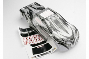 TRAXXAS запчасти Body, E-Maxx, ProGraphix (long wheelbase) (replacement for painted body. Graphics are painted- requi