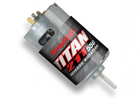 TRAXXAS запчасти Motor, Titan 550, reverse rotation (21-turns: 14 volts) (1)