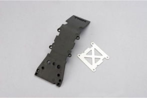 TRAXXAS запчасти Skidplate, front plastic (grey): stainless steel plate