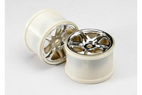 TRAXXAS запчасти Wheels, SS (split spoke) 3.8'' (chrome) (2) (use with 17mm splined wheel hubs & nuts,