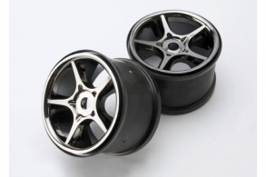 TRAXXAS запчасти Wheels, Gemini 3.8'' (black chrome) (2) (use with 17mm splined wheel hubs & nuts, part