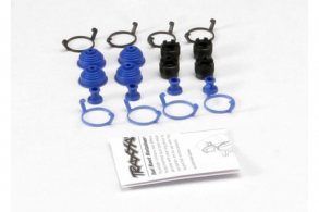 TRAXXAS запчасти Pivot ball caps (4): dust boots, rubber (4): dust plugs, rubber (4): dust boot retainers, black (4),