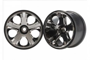 TRAXXAS запчасти Wheels, All-Star 2.8'' (black chrome) (nitro front) (2)