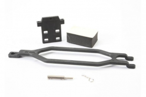 TRAXXAS запчасти Hold down, battery: hold down retainer: battery post: foam spacer: angled body clip (allows for inst