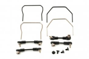 TRAXXAS запчасти Sway bar kit (front and rear) (includes front and rear sway bars and adjustable linkage)