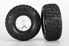 TRAXXAS запчасти Tires & wheels, assembled, glued (S1 ultra-solft off-road racing compound) (SCT Split-Spoke satin c