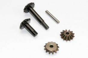 TRAXXAS запчасти Gear set, center differential (output gears (2): spider gears (2): spider gear shaft)