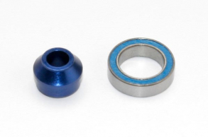 TRAXXAS запчасти Bearing adapter, 6160-T6 aluminum (blue-anodized) (1):10x15x4mm ball bearing (blue rubber sealed) (1
