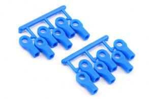 RPM Short Rod Ends (12), Blue: TRA 1:10