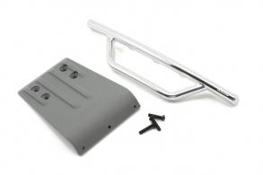 RPM Front Bumper & Skid Plate, Chrome:Gray: Slash