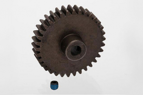 TRAXXAS запчасти Gear, 34-T pinion (1.0 metric pitch, 20° pressure angle) (fits 5mm shaft): set screw