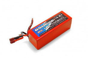 nVision Li-Po 14.8V(4s) 6500mAh 90С Deans  Hard Case for 1\8 scale models