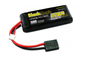 Black Magic LiPo 7,4В(2S) 2200mAh 30C Soft Case Traxxas plug