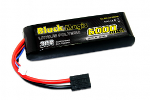 Black Magic LiPo 7,4В(2S) 6000mAh 30C Soft Case Traxxas plug for TRAXXAS