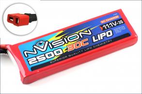 nVision Li-Po 11.1V(3s) 2500mAh 30C Deans plug  Soft Case