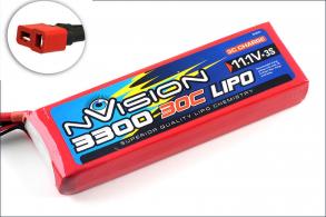 nVision Li-Po 11.1V(3s) 3300mAh 30C Deans plug Soft Case