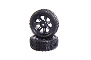 Medial Pro Viper 2.2 Tires mounted on Titan 2.2 Black Wheels, Front