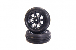 Medial Pro Tracer 2.2 Tires mounted on Titan 2.2 Black Wheels, Front