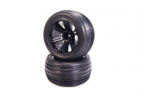 Medial Pro Tracer 2.8 Tires mounted on Addict 2.8 Black Wheels, Front EP - Rear NT