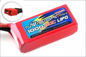 nVision Li-Po 11.1V(3s) 1000mAh 30 Soft Case  Deans Plug