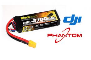 Black Magic LiPo 11,1В(3S) 2700mAh 25C Soft Case XT-60 plug for DJI Phantom